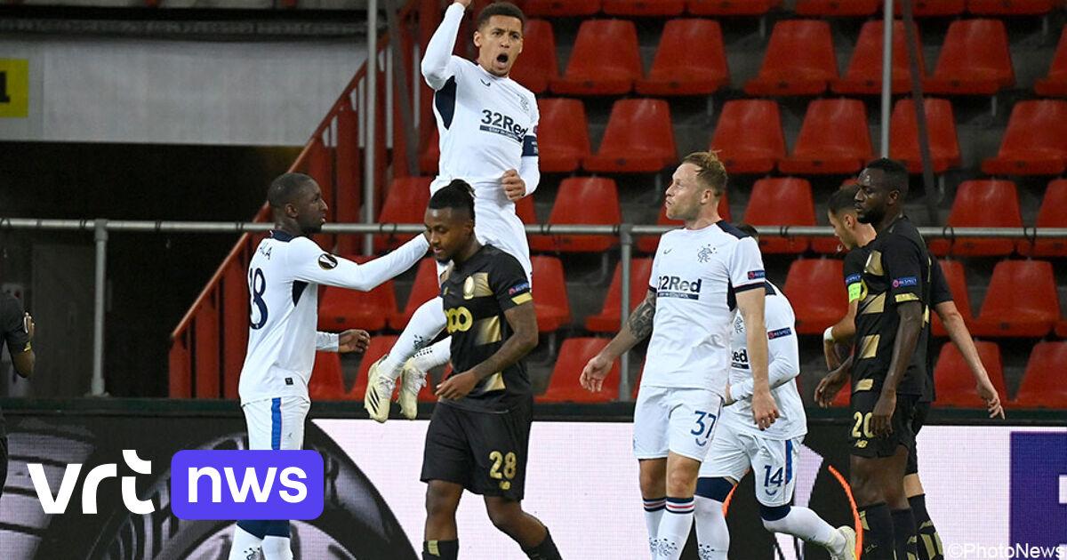 Rangers beat Standard, Antwerp victorious in Bulgaria, AA Gent beaten by Slovan Liberec.