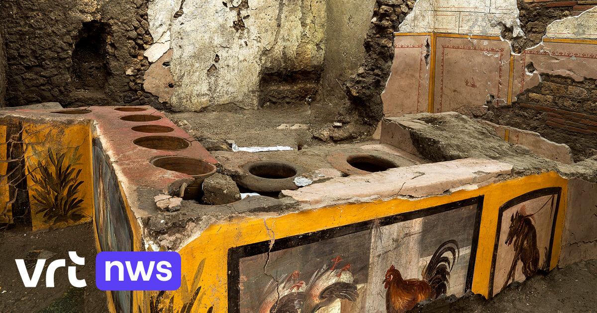"""Archeologen ontdekken uitzonderlijk goed bewaarde """"antieke snackbar"""" in Pompeï"""