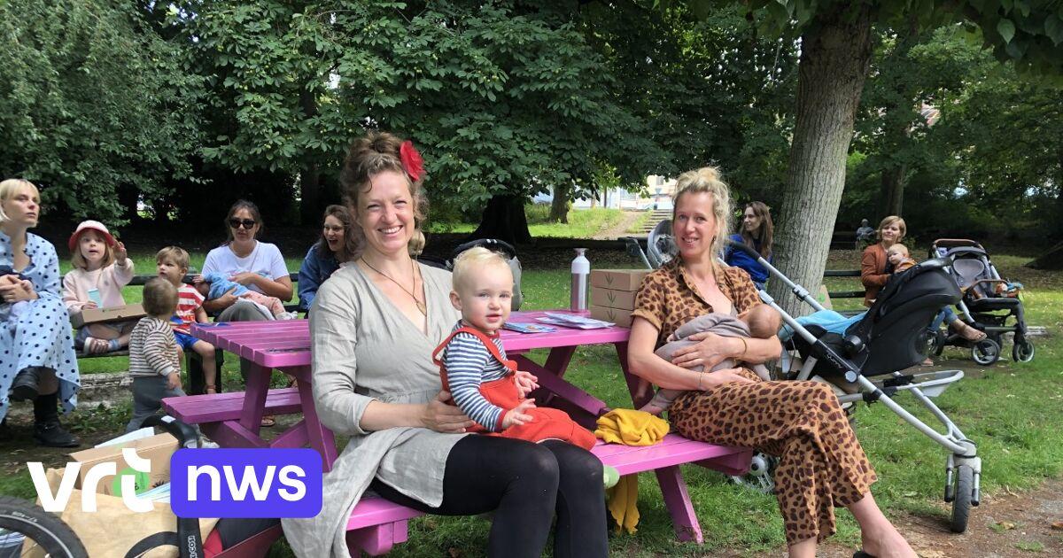 Honderdtal mama's geeft tegelijk borstvoeding in Citadelpark