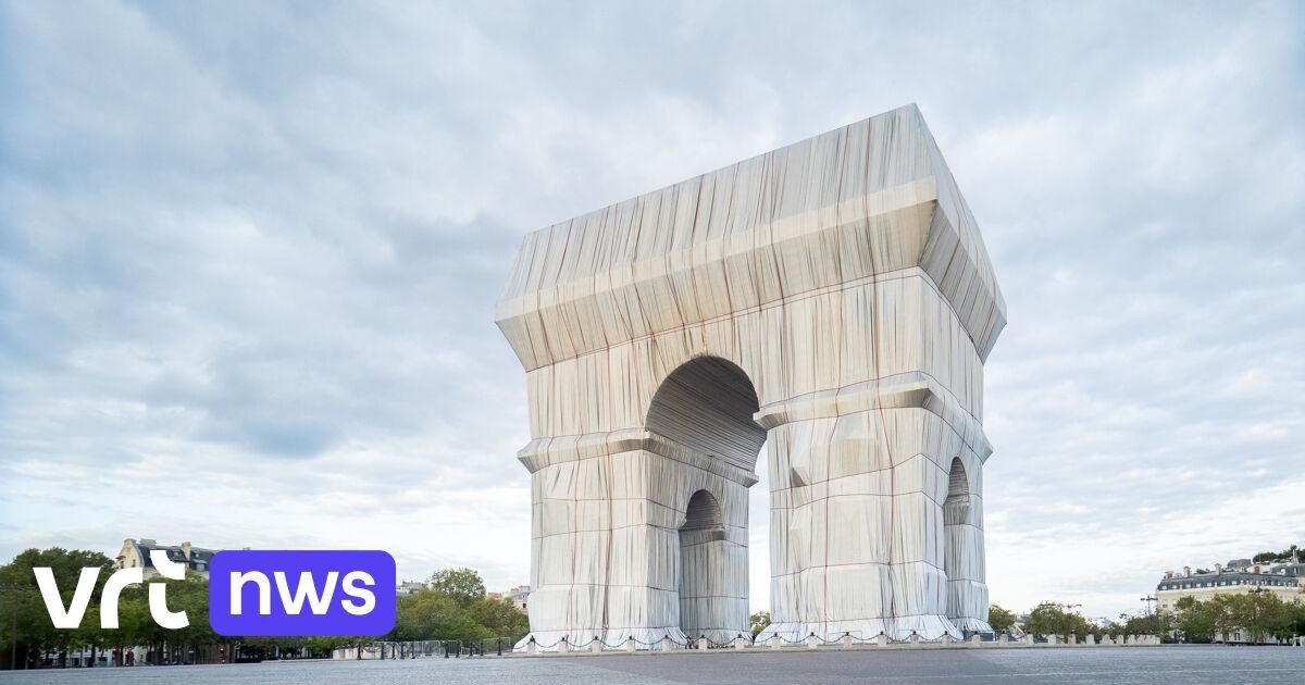Ingepakte Arc de Triomphe ingehuldigd: «Grootste uitdaging was dat Christo er niet meer is»