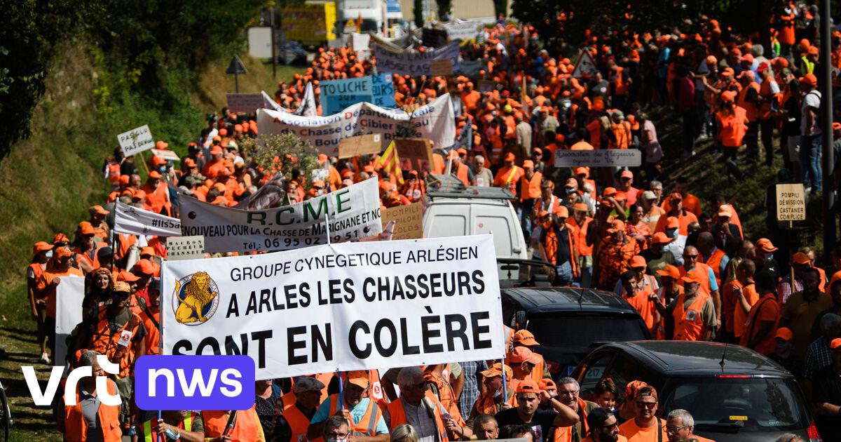 Duizenden Franse jagers op straat voor behoud traditionele vogeljacht