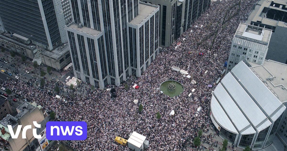 BEKIJK – De dag waarop Belgen er genoég van hadden: Witte Mars lokte 25 jaar geleden 300.000 deelnemers