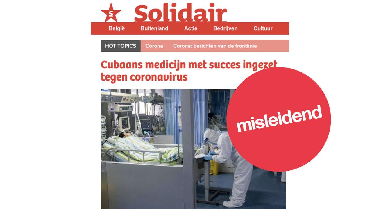 Artikel dat beweert dat een Mexicaans medicijn succes heeft.
