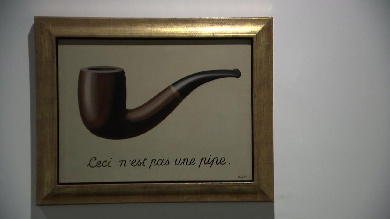 ceci n 39 est pas une pipe van ren magritte voor het eerst sinds 1971 in belgi te zien vrt nws. Black Bedroom Furniture Sets. Home Design Ideas