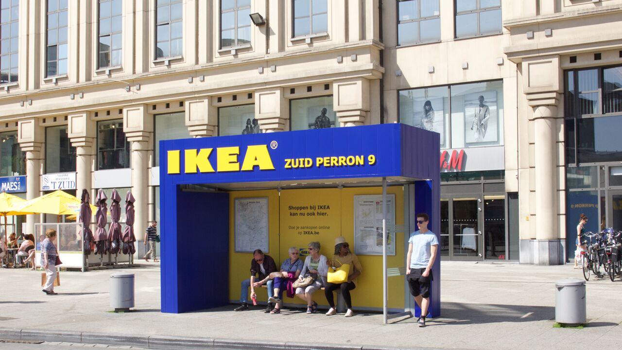 Bushokjes van Ikea in Gent moeten weg