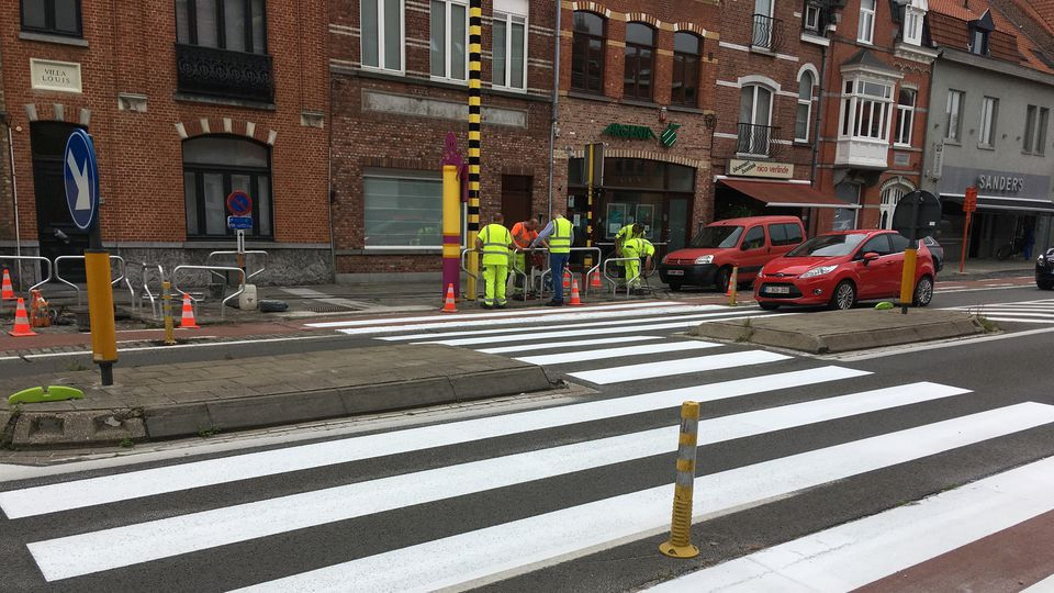Winged zebra crossings to up traffic safety in Flanders