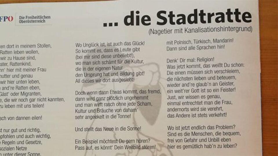 Ophef In Oostenrijk Over De Stadsrat Een Gedicht Dat