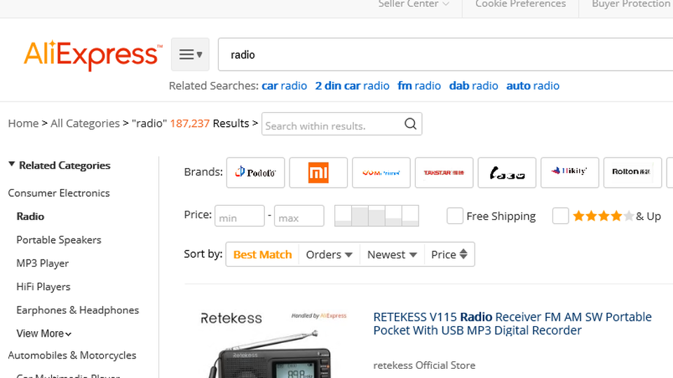 Consumers' association asked authorities to take action against AliExpress