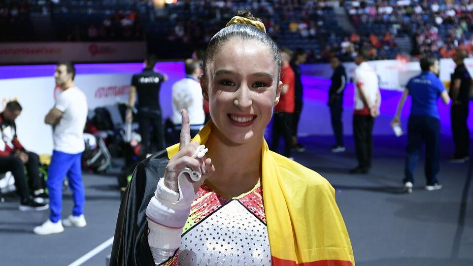 Nina Derwael is Belgium's gymnastics' queen