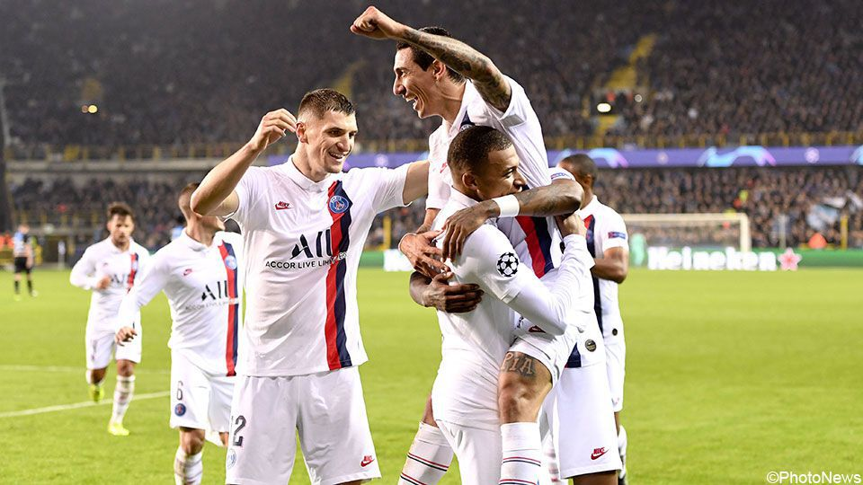 Club Brugge given lesson in football by PSG