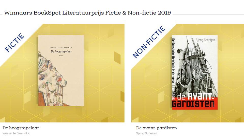 BookSpot Literatuurprijs is Nederlands onderonsje: Wessel te Gussinklo en Sjeng Scheijen in de prijzen