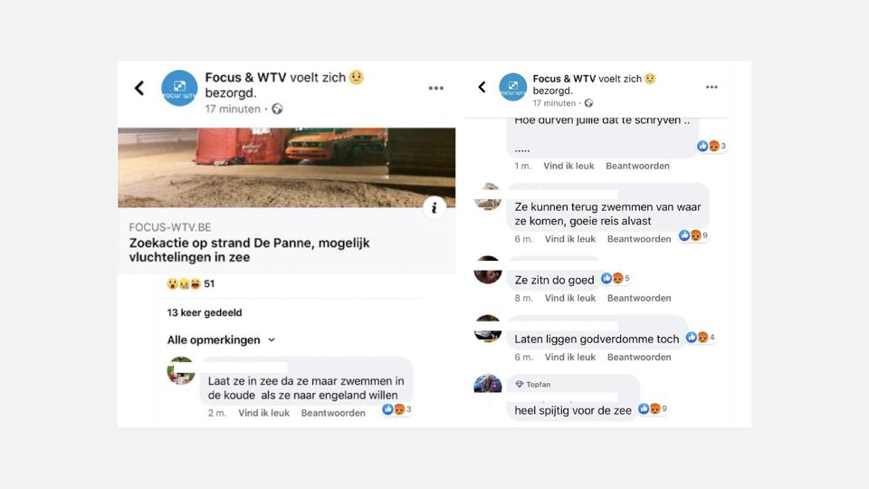 Migrants naufragés à La Panne: une enquête ouverte sur les propos racistes publiés sur les réseaux sociaux